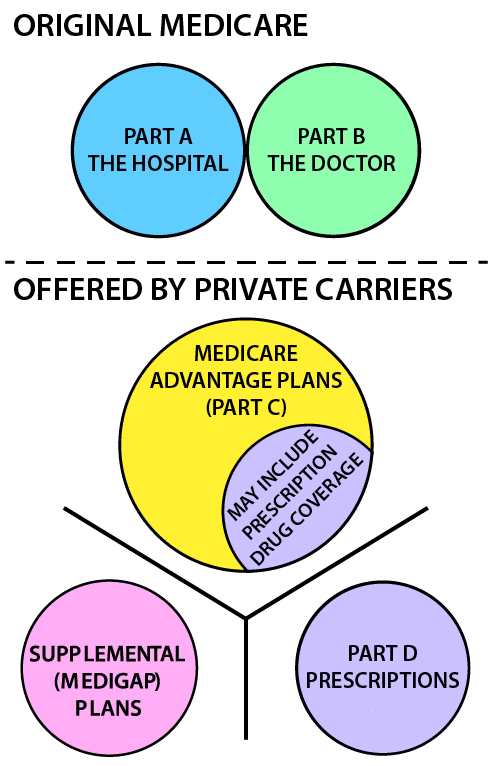 Medicare And Other Insurance Options Illustration